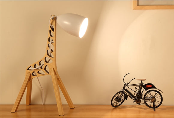 Wooden Giraffe Table Lamp | Children Room