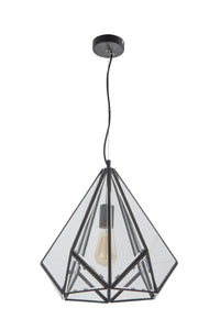 Diamond-shaped Copper Pendant Light | Retro Design