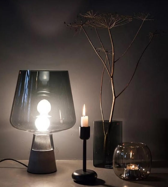 Trendy Smokey Grey Table Lamp | Minimalist Series