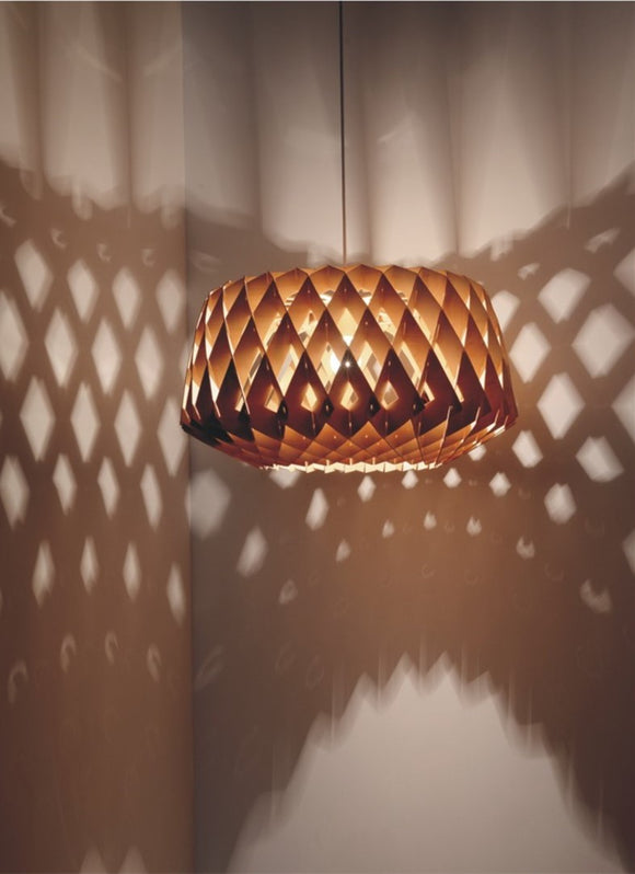 Wooden Pendant Lamp | Dining Hall