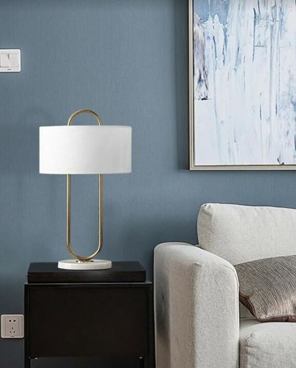 Modern Gold Oval Table Lamp | Designer Series