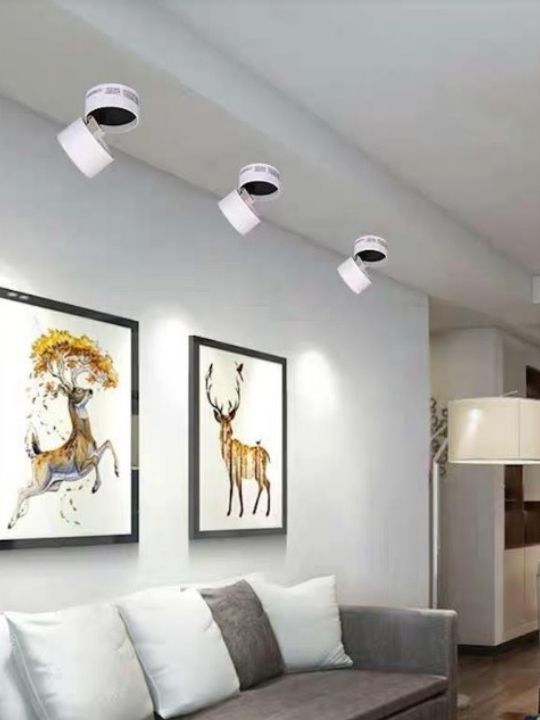 10W White Adjustable Surface Mounted Light | Trendy Series