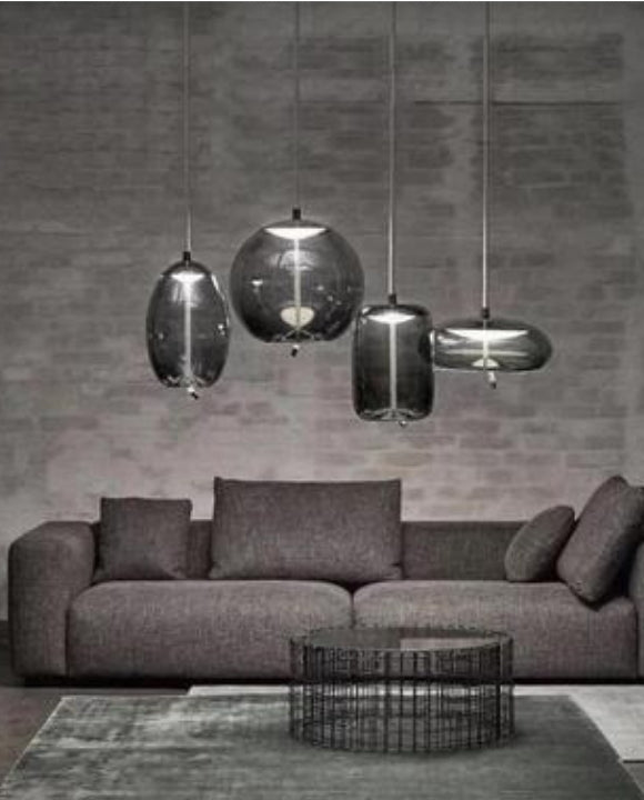 Smokey Grey Pendant Light | Minimalist Series