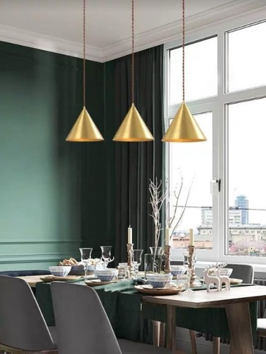 Vintage Triangle Pendant Light | Brass Series