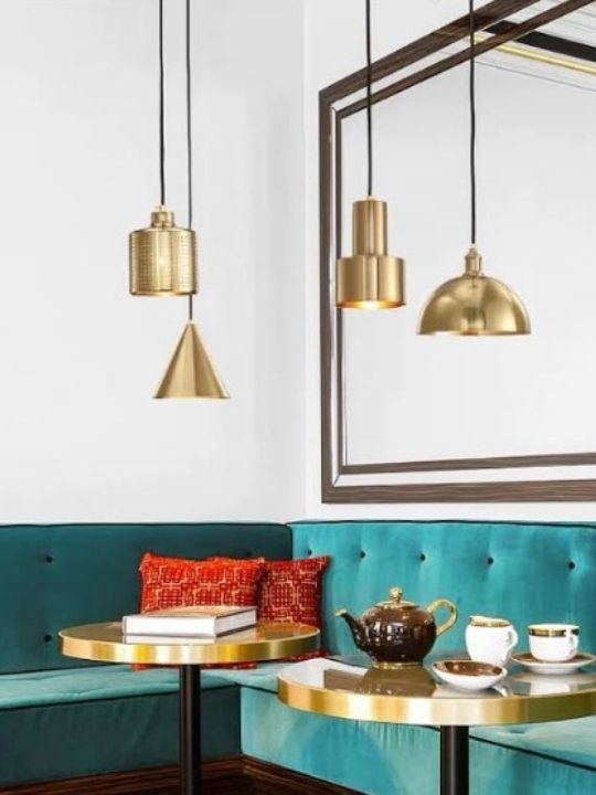 Vintage Cylinder - shaped Pendant Light | Brass Series