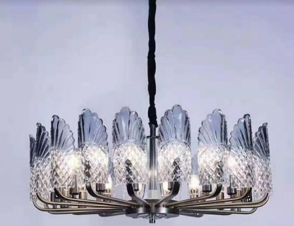 Greyish Blue North America Chandelier | Classic Series (16 Bulbs)