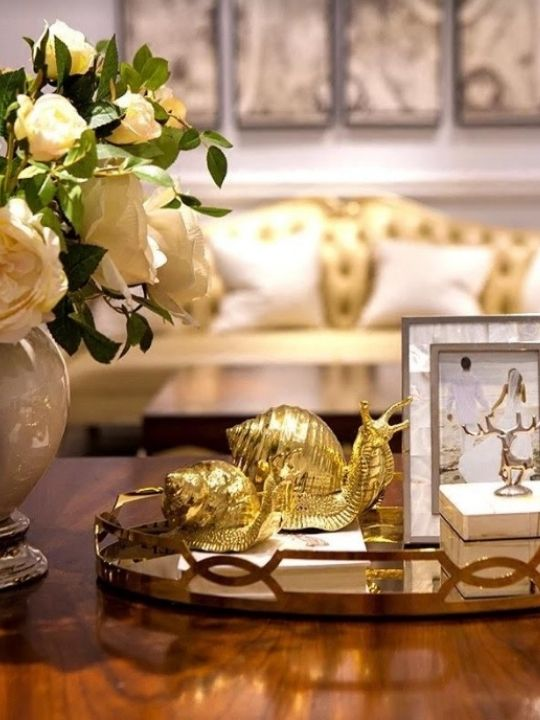 Golden Snail Decoration | Hotel Series