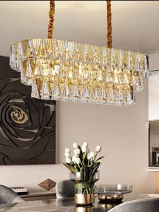 Classic Rectangle Crystal Chandelier | Posh Series