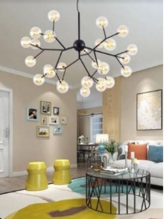 Black Beautiful Glass Bubbles Chandelier | Elegant Series