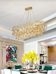 Vintage Rectangle Crystal Chandelier | Designer Series