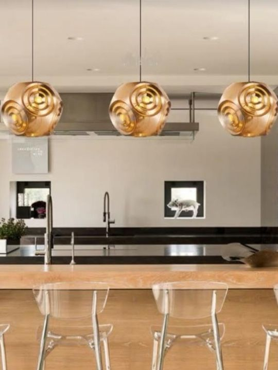 Trendy Rose Gold Pendant Light | Designer Series