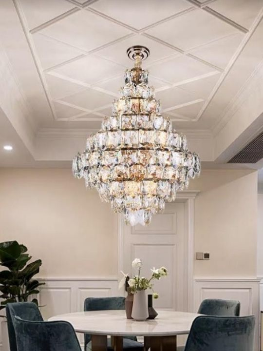 Elegant Pine-shaped Crystal Chandelier | Designer Series