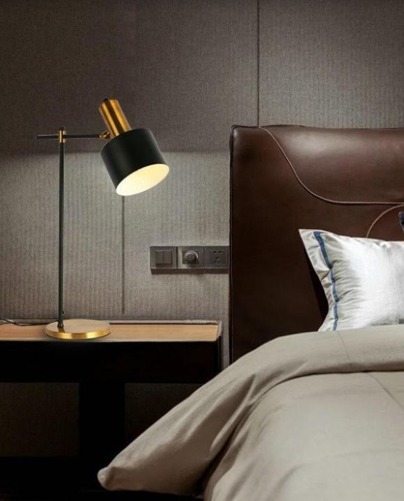 Black and Gold Sconce Table Lamp | New Arrival
