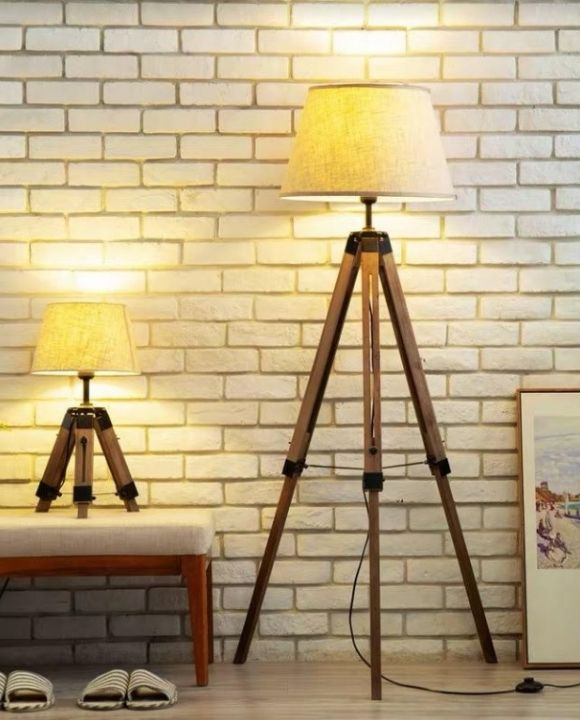 Tripod Wooden Leg Table Lamp | New Arrival