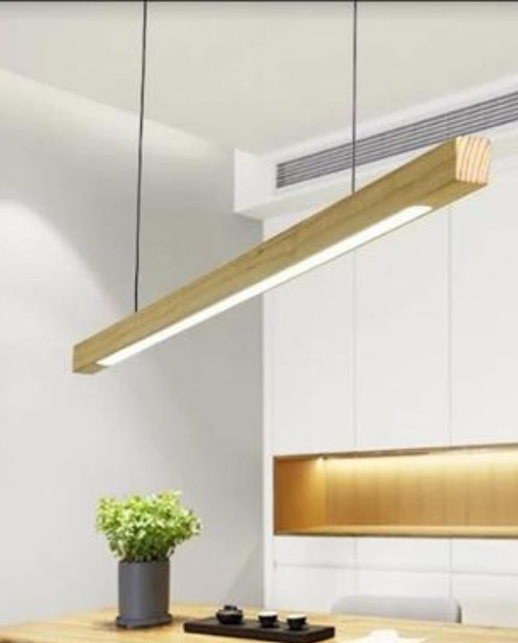 Wooden Rectangle Pendant Light | Designer Series