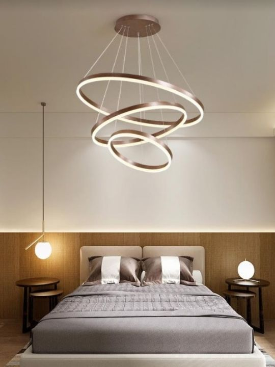Modern 3 - Rings Chrome Chandelier | Designer Series