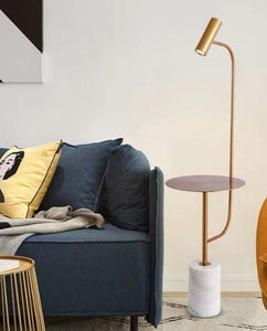 Gold and Marble Floor Lamp | Oriental Series