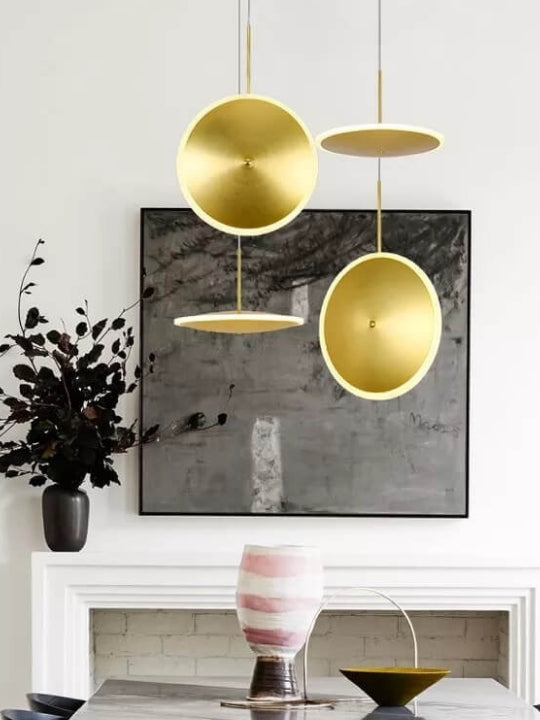 Gold Disc Pendant Light | Designer Series