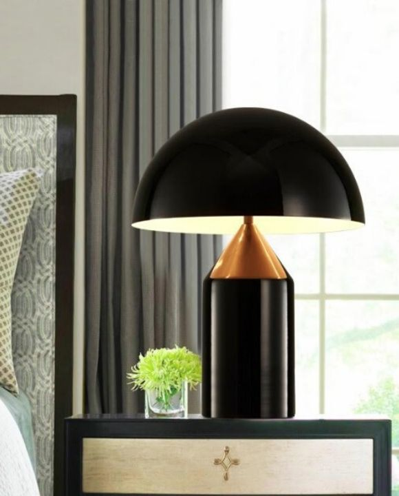 Otto Exquisite Gold and Black Table Lamp | Posh Series
