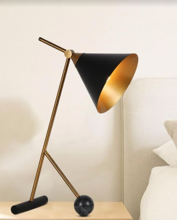 Zhask Gold and Black Table Lamp | Trendy Series