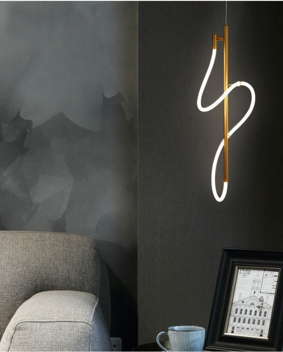 Beatrix Gold Finishing Neon Rope Modern Pendant | New Arrival