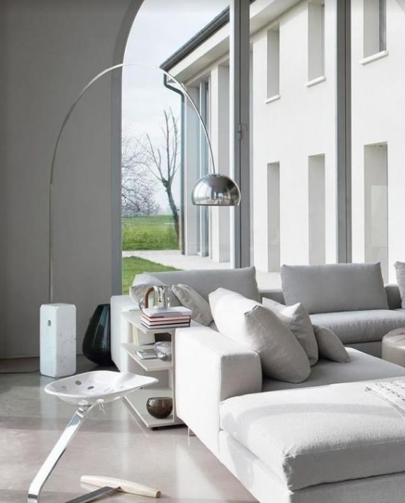 Diablo Silver Floor Lamp | Posh Series