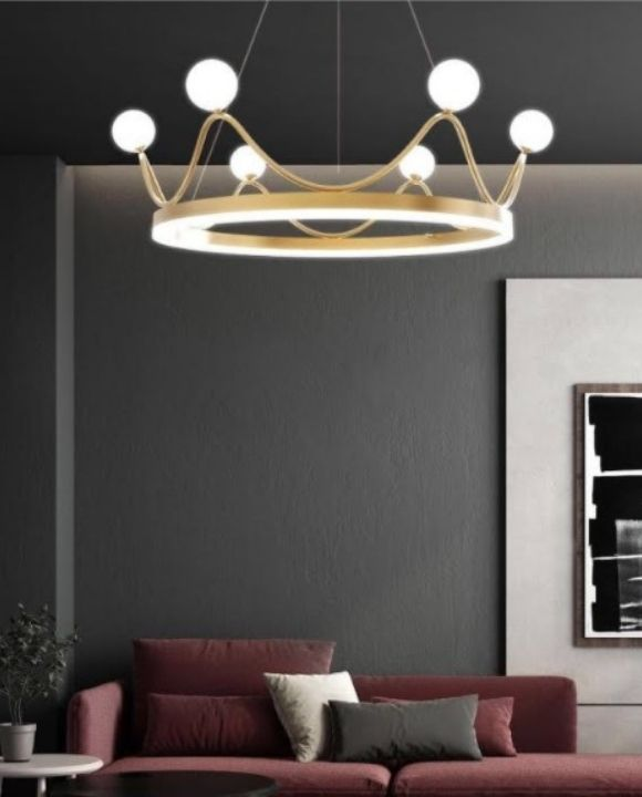 Royale Gold Crown LED Pendant Light | Posh Series
