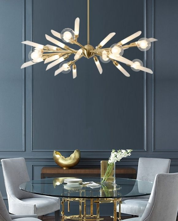 Borg 24 Heads Gold Pendant Lamp | Trendy Series