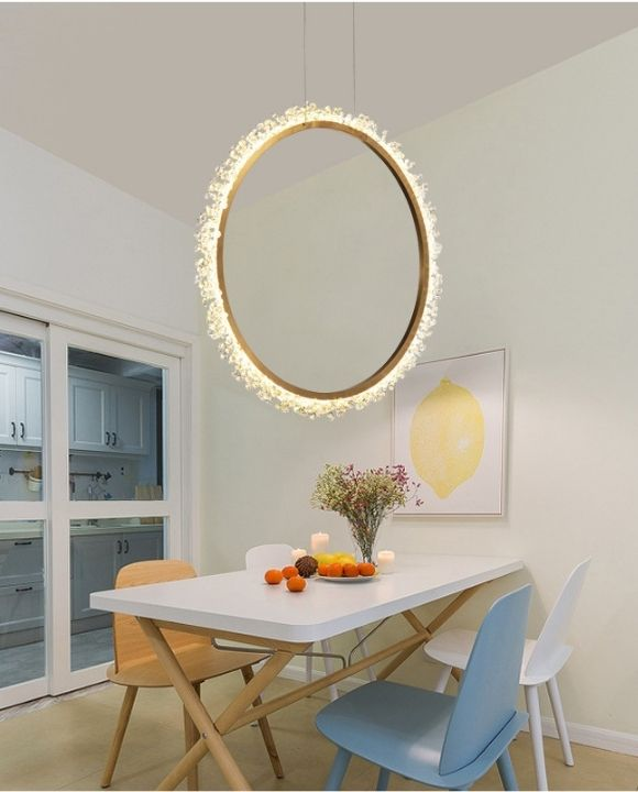 Banedetta Gold Ring with Crystal Pendant Lamp | New Arrival