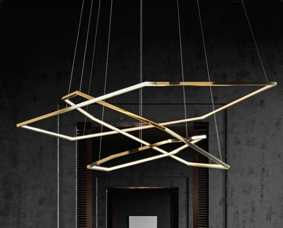 Vexana Gold 3 Hexagons Pendant Lamp | New Arrival