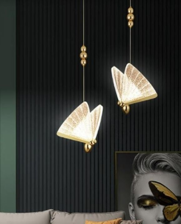 Butterfly Gold LED Pendant Light | Luxury Series