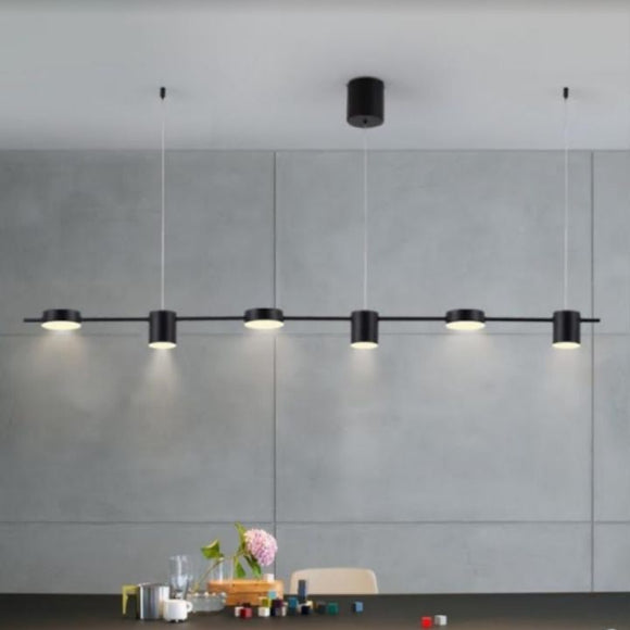 Black Minimalist LED 3 Colour Pendant Light | Minimalist Series