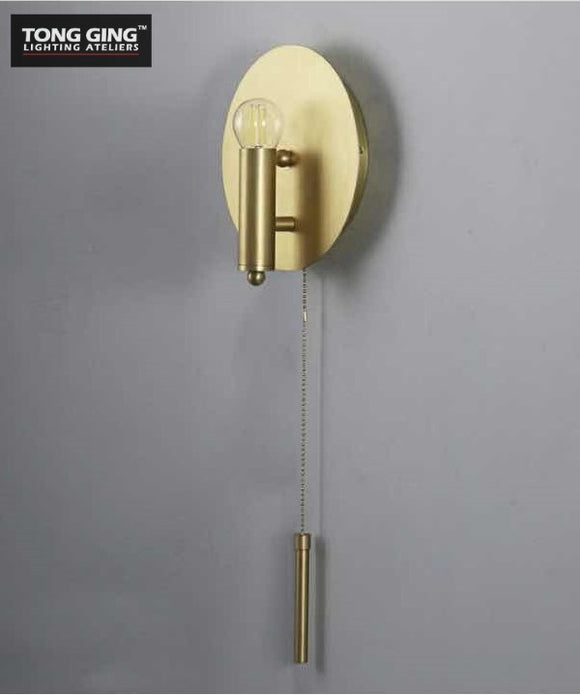 Russo Circular Gold Wall Light