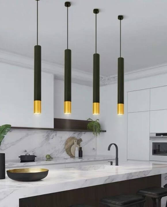 Kyria Black and Gold Pendant Light