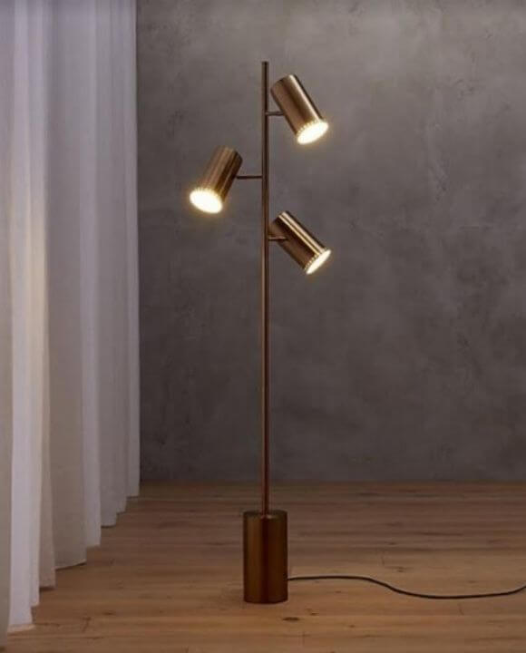 Cosmo Floor Lamp in Gold | Oriental Series