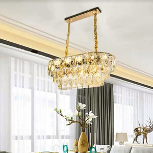 Oval Crystal Chandelier | Elegant Series