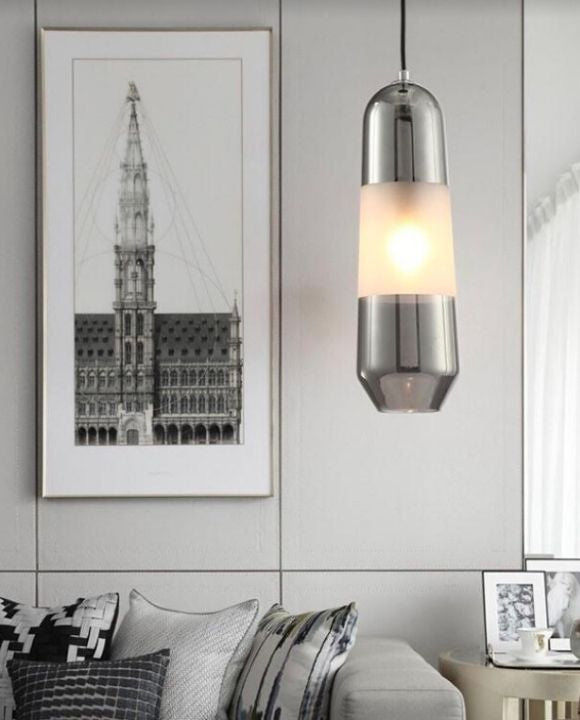 Axel Shiny Black Glass Pendant Light | New Arrival