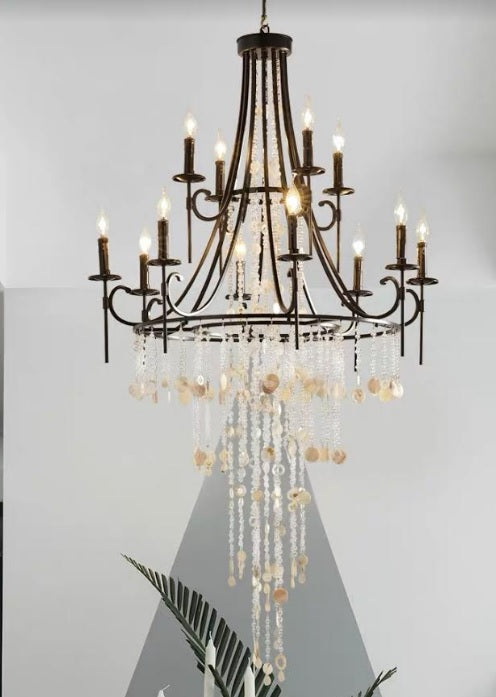 Enchanting Black Crystal Chandelier | Designer Series