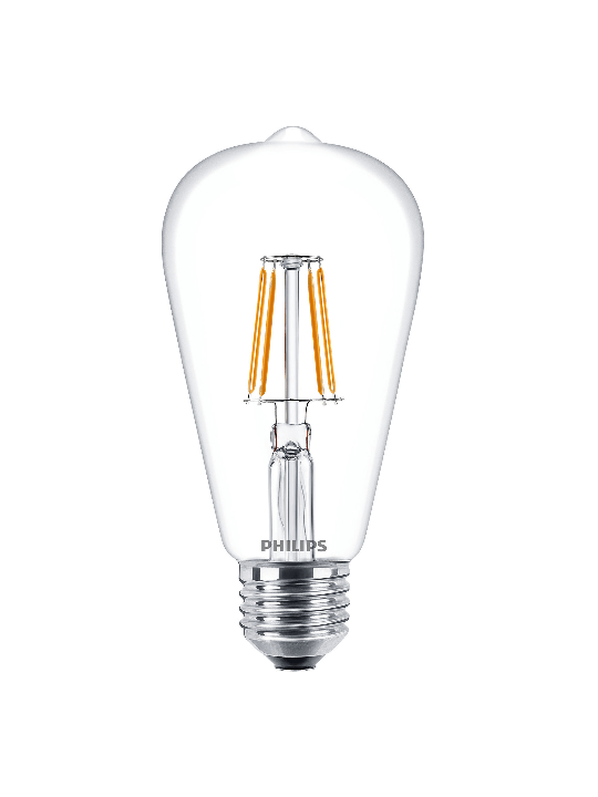 Philips LED Bulb (10 in bulk) | 6W Classic filament ST64