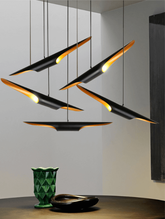 Unique Black Pendant Light | Aluminium