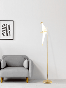 Artistic LED Floor Lamp With Gold Finish | Modern Design