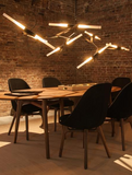 Artistic Tree Branch Pendant Light | Meeting Table