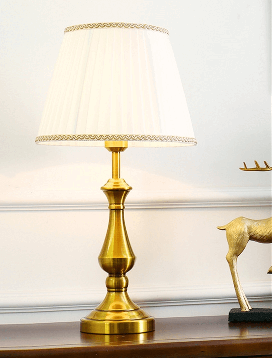 Gold Bronze Table Lamp | Modern Design