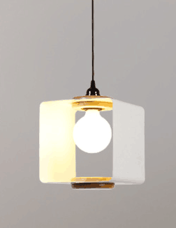 Loha Square Chrome Pendant Light | Modern design