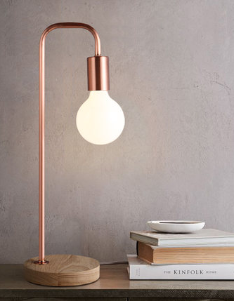 Rose Gold Downlight Table Lamp | Modern Design