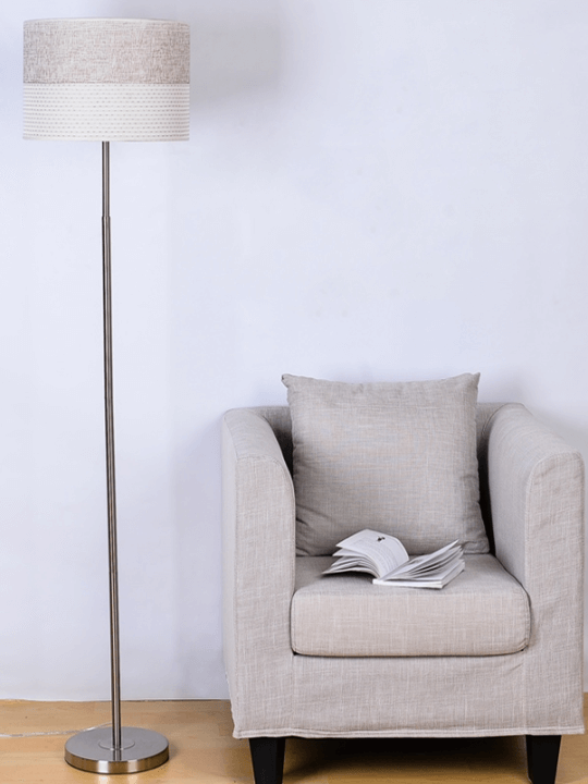 Gorgeous Chrome Designer Floor Lamp | Modern Design