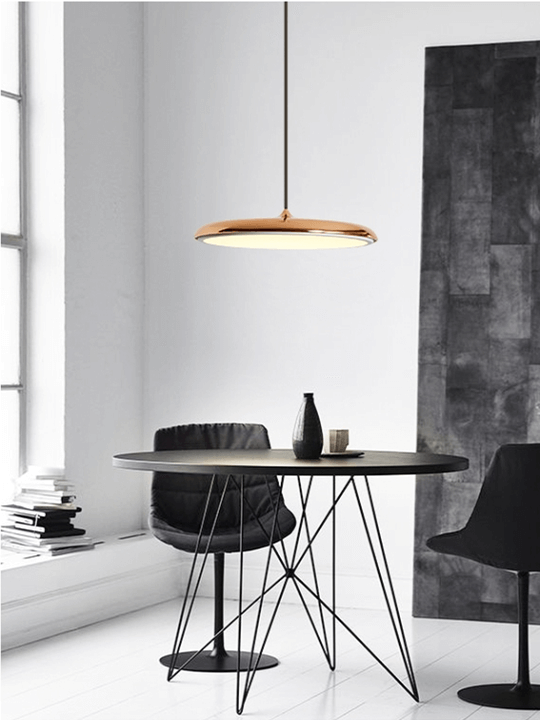 Rose Gold Pendant Lamp | Chrome Design