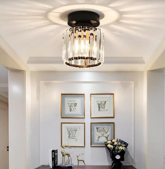 Stylish Crystal Ceiling Mounted Light | Modern Series