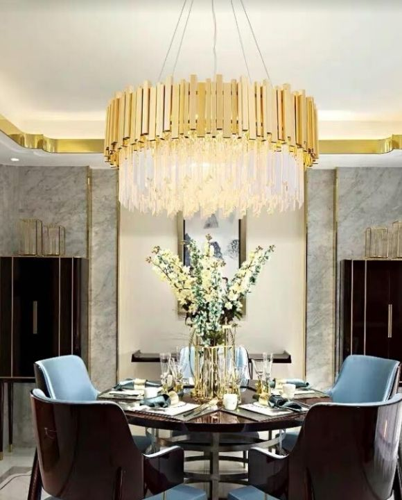 Arezzo Classy Crystal Gold Chandeliers | Simple and Elegant (D800mm)