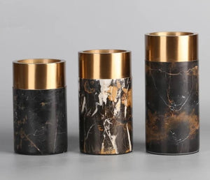 Gold and Black Marble Vase | Decor Series